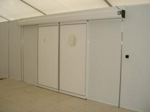 Porte automatique pour hôpital de campagne