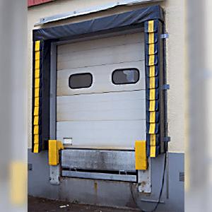 Etanchéité de quai frigorifique par bourrelet