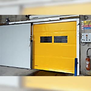 porte frigorifique et porte souple combinée, porte Biport(r)