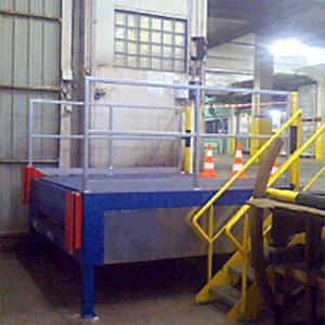 Sécurité de quai de chargement, rampe quai bascule