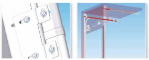 Système guidage porte sectionale industrielle